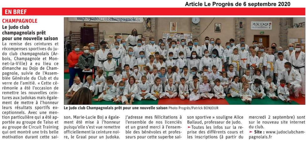 Article de presse 6 septembre 2020